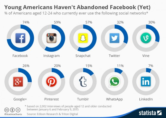 graphique utilisation reseaux sociaux USA